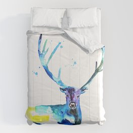WATERCOLOR STAG PAINTING ORIGINAL Comforters