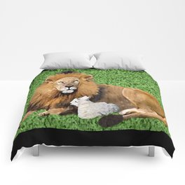 Lion and Lamb Comforters