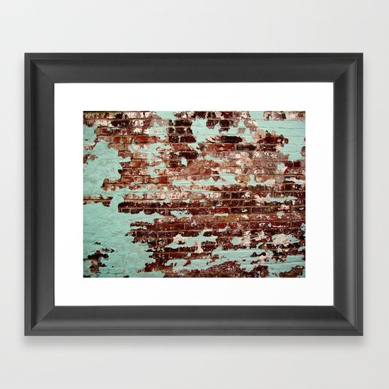 Half Naked Bricks Framed Art Print