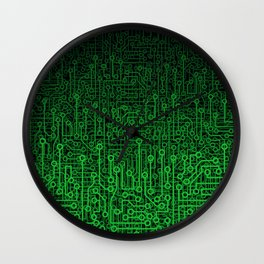 Reboot II GREEN Wall Clock