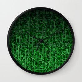 Reboot II GREEN Wall Clock