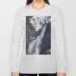 Avalanche on Aoraki / Mount Cook. Long Sleeve T-shirt