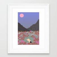 tulips Framed Art Prints featuring Tulips by Miranda Lorikeet