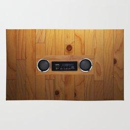 wall retro radio Rug
