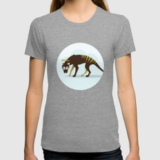 God's Zoo: Tasmanian Tiger LARGE Womens Fitted Tee Tri-Grey