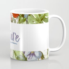 Nature, Tropical Floral Watercolor Coffee Mug