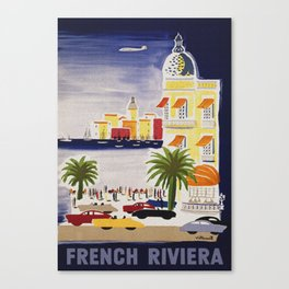 The French Riviera - Vintage Travel Canvas Print