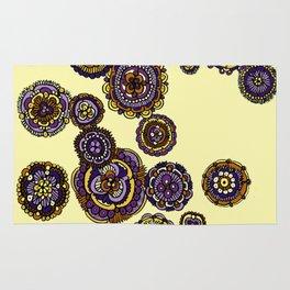 Yellow Mandala Flowers Rug