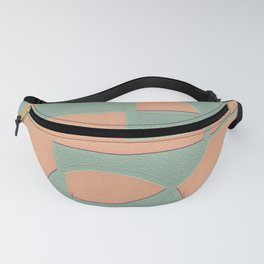 Circular Squares and Rectangles Fanny Pack