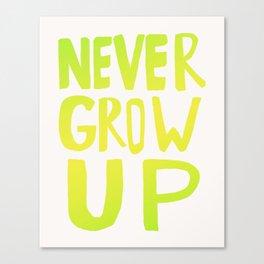 Never Grow Up III Canvas Print