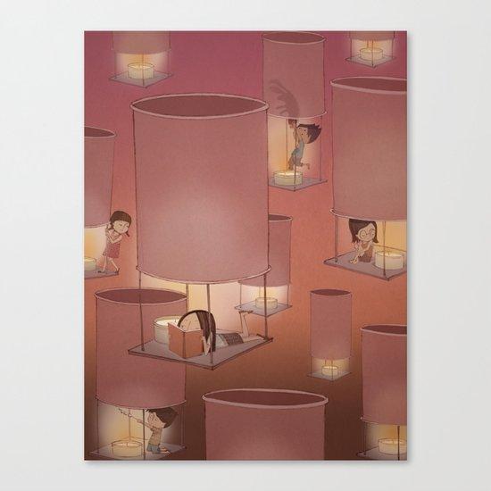 Lights Off, Lift Off Canvas Print