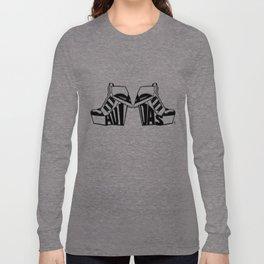 ADIDAS BLACK & WHITE WEDGE SNEAKER BOOTIE Long Sleeve T-shirt
