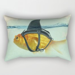 Brilliant DISGUISE - Goldfish with a Shark Fin Rectangular Pillow