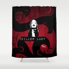 KILLER LADY LOGO ONE  Shower Curtain