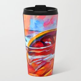 Cocktail 2 Watercolor Metal Travel Mug