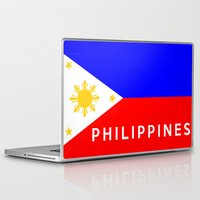 philippines Laptop & iPad Skins featuring flag of Philippines by tony tudor