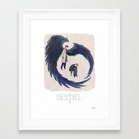 destiel Framed Art Prints featuring Supernatural - Destiel by Collectif PinUp!
