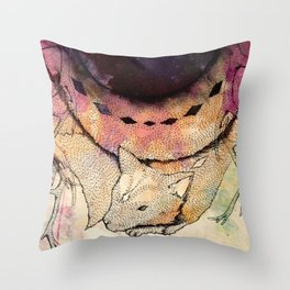 Black Hole in the Woods Throw Pillow