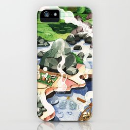 Hot spring onsen egg watercolor iPhone Case