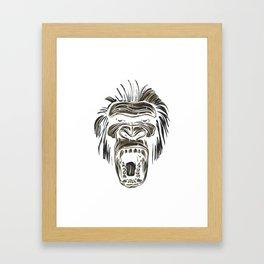 GORILLA KING KONG Framed Art Print