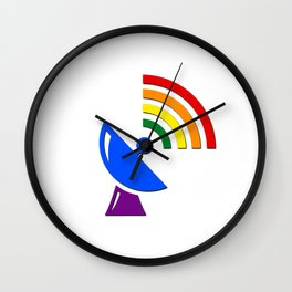 Rainbow Gaydar Gay Pride Flag Colors Wall Clock