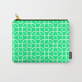 Grille No. 4 -- Seafoam Carry-All Pouch