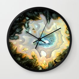 Geode Fairyland - Inverted Art Series Wall Clock