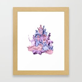 Statue Collage Framed Art Print