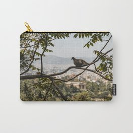 Bird Overlooking Temple of Hephaestus, Athens, Greece Carry-All Pouch