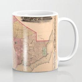 Map Of Georgetown 1856 Coffee Mug