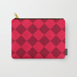 Plaid red tones . Cell . Carry-All Pouch