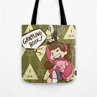 gravity falls Tote Bags featuring Mabel Pines - Gravity Falls  by BlacksSideshow