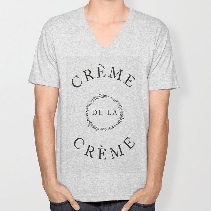 Crème Unisex V-Neck