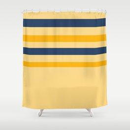 Yellow  blue  stripes  horizontal Shower Curtain