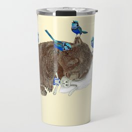 Wrens Wombat sleep Travel Mug