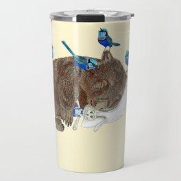 Wrens Wombat sleep Travel Mug