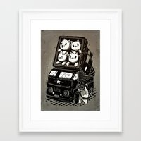 cats Framed Art Prints featuring Cats by Ronan Lynam
