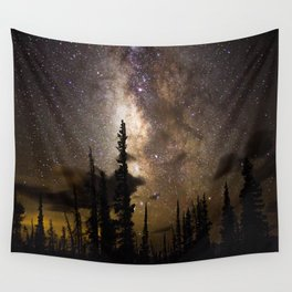 Mountain Milky Way Wall Tapestry