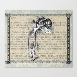 Alice and Cat Canvas Print