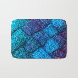 Blue Entrelac Bath Mat