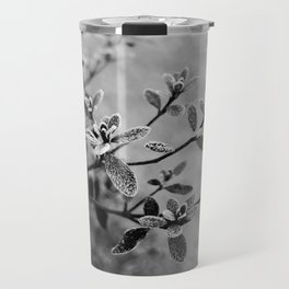 Morning frost (black and white) Travel Mug