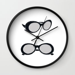 60s Black Retro Sunglasses   Mod Wall Clock