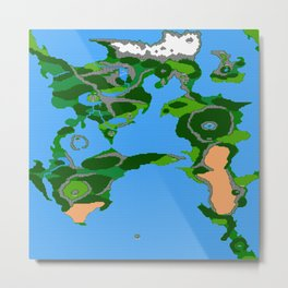 Final Fantasy II Japanese Overworld Metal Print