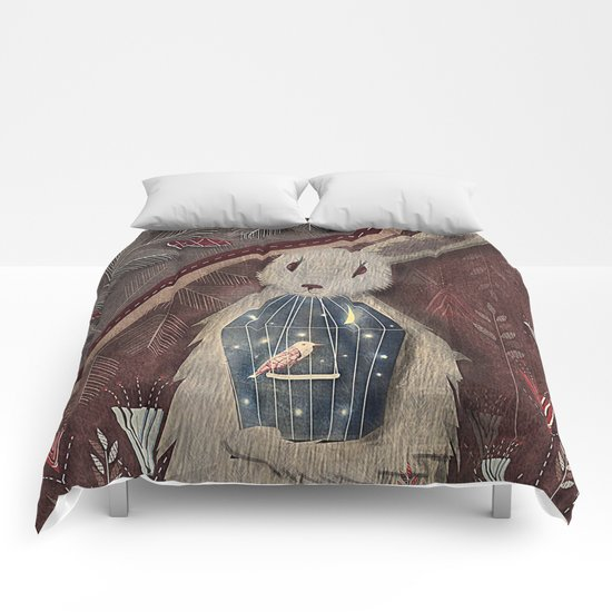 Chaising rabbit Comforters
