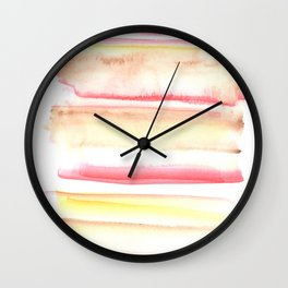 170603 Watercolour Colour Study 10 Wall Clock