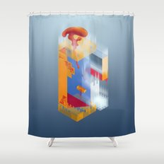 Castle of Impossible Flavors Shower Curtain