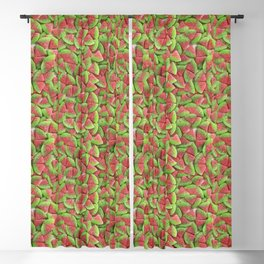 Sour Watermelon Gummy Candy Photo Pattern Blackout Curtain