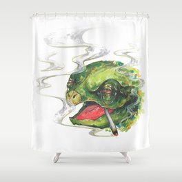 Wait... What?  Shower Curtain