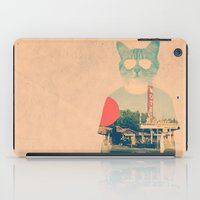 cat coquillette iPad Cases featuring Cool Cat by Ali GULEC