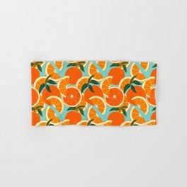 Orange Harvest - Blue Hand & Bath Towel